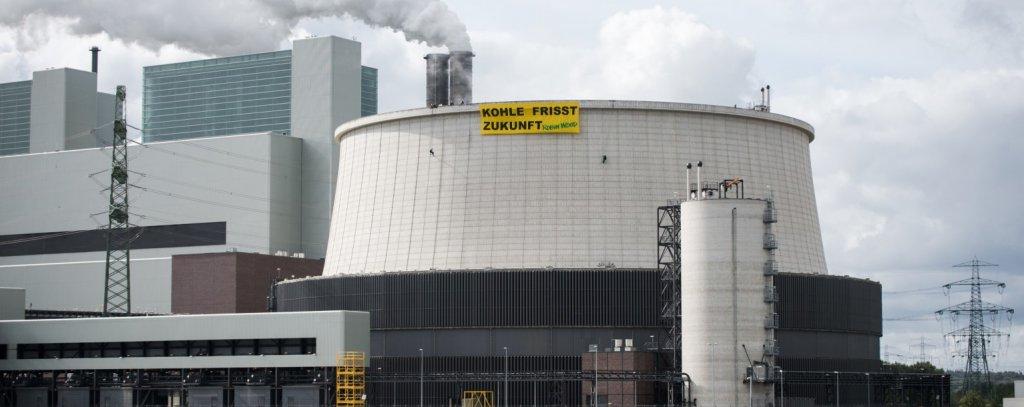 Banneraktion am Kohlekraftwerk Moorburg, 19.9.2019