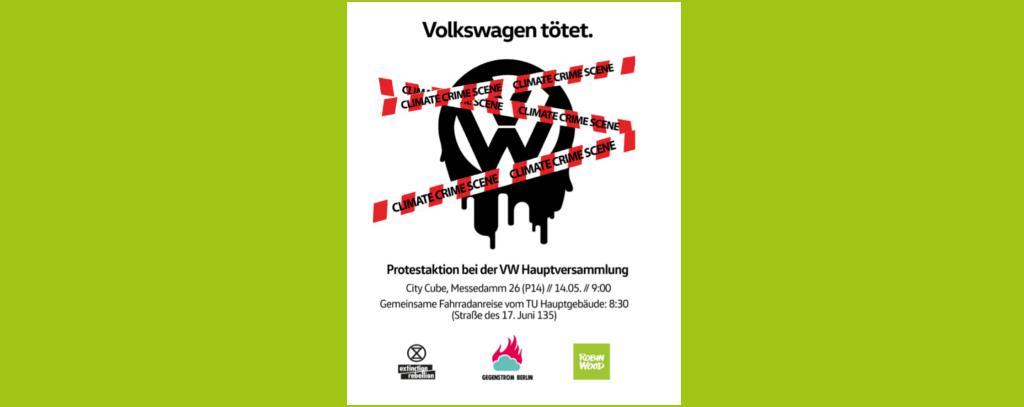 """Flyer """"VW tötet!"""