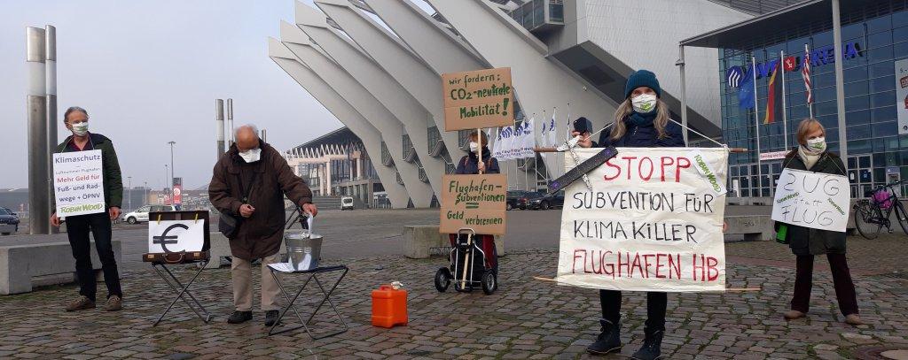 Protest gegen Flughafen-Subventionen