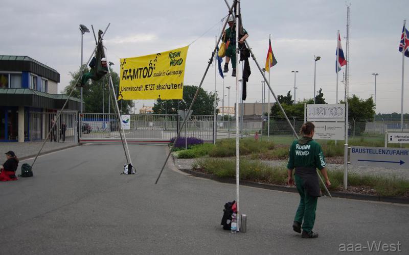 Protest auch vor der UAA Gronau gegen den Export von Uran in aller Welt, 2011