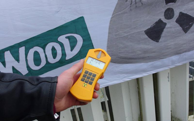 Radioaktivitätsmessung am AKW Brokdorf