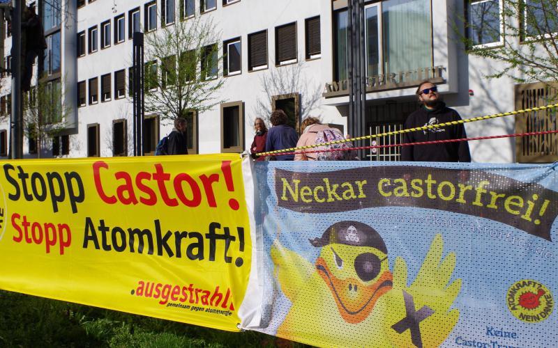 Mahnwache vor dem Amtsgericht Heilbronn am 11.4.2018