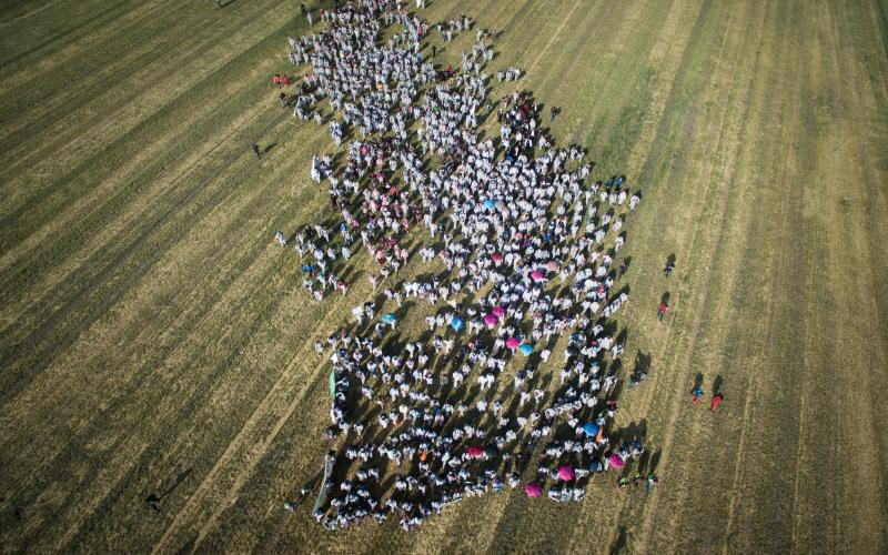 """""""Ende Gelände""""-Proteste im Lausitzer Kohlerevier im Mai 2016"""