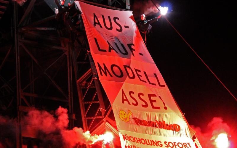 Protest gegen das marode Atomlager Asse, Silvester 2011