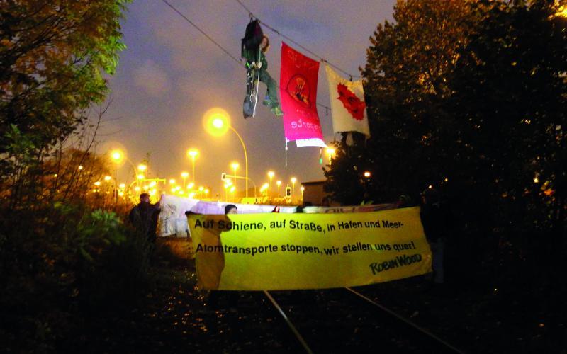 Atomtransporte-Blockade im Hamburger Hafen, 2014
