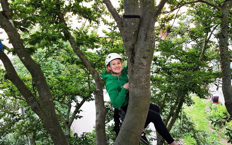 Foto Klettertraining im Baum