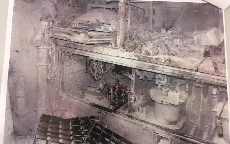Bild vom Brand in Lingen am 6.12.2018