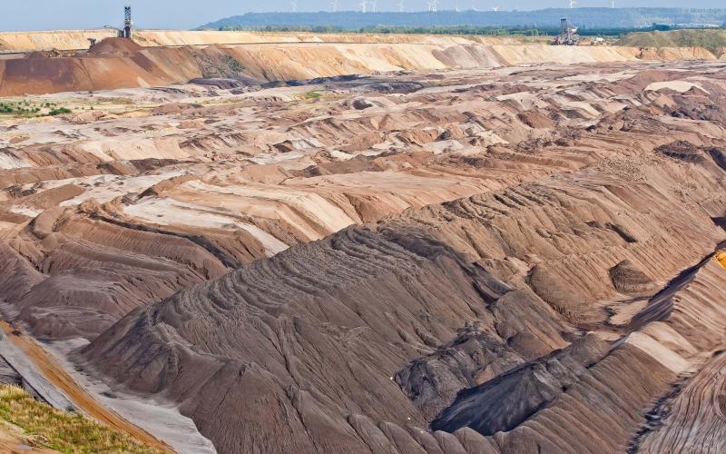 Abraumfläche im Tagebau Garzweiler im rheinischen Braunkohlerevier