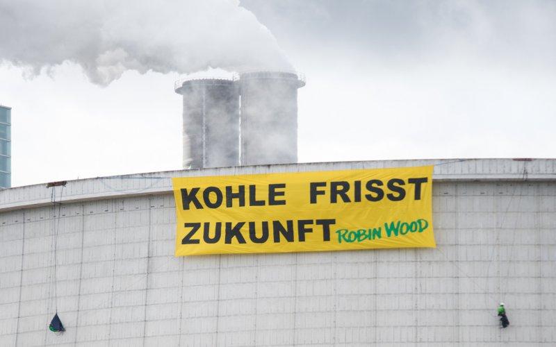 Aktion Kühlturm Kohlekraftwerk Hamburg-Moorburg