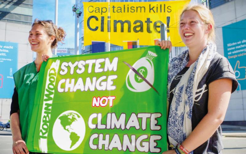 Foto Klimaschutz-Aktion bei RWE in Essen 2017