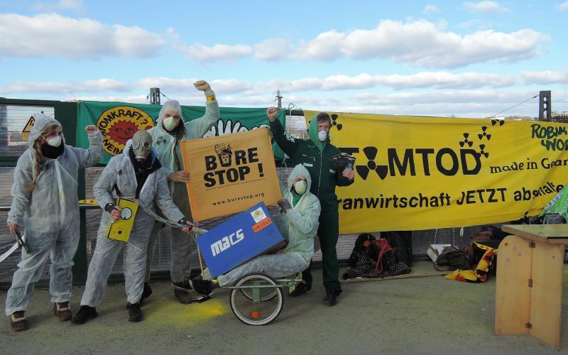 Aktion gegen Urantransporte
