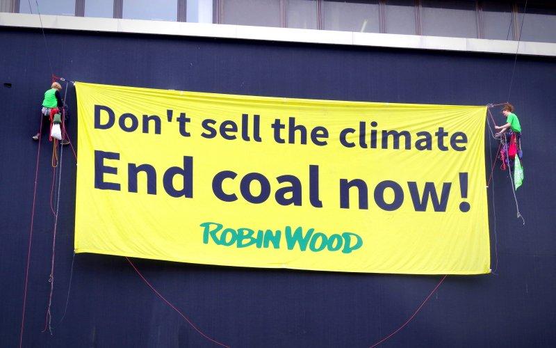 ROBIN WOOD Aktion bei G20 Protesten in Hamburg