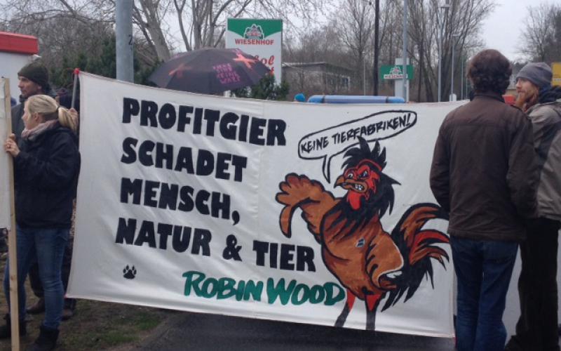 Aktion Kundgebung Niederlehme Schlachtfabrik Wiesenhof