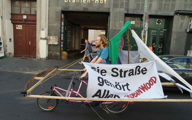 Sich den öffentlichen Raum nehmen, Rad-Demo in Berlin