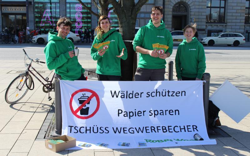 Wegwerfbecher Cupifesto Aktionstag Hamburg Alster