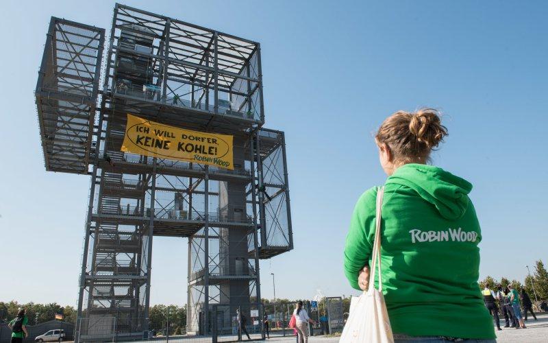 """Foto """"Ich will Dörfer, keine Kohle!"""" Aktion 19.9.2020"""