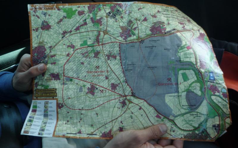 Karte des Tagebaus Garzweiler