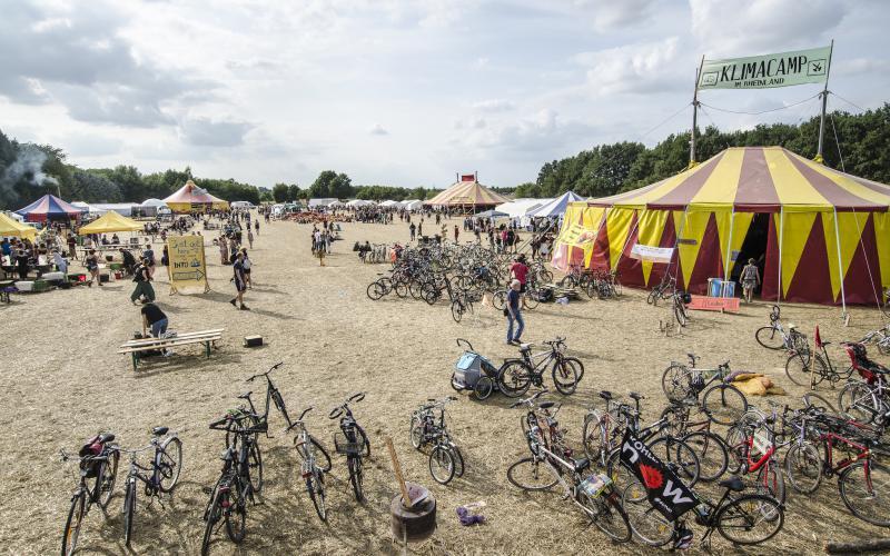 Eindruck aus dem Klimacamp im Rheinland 2017
