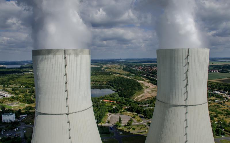 Kraftwerk Lippendorf im mitteldeutschen Braunkohlerevier bei Leipzig