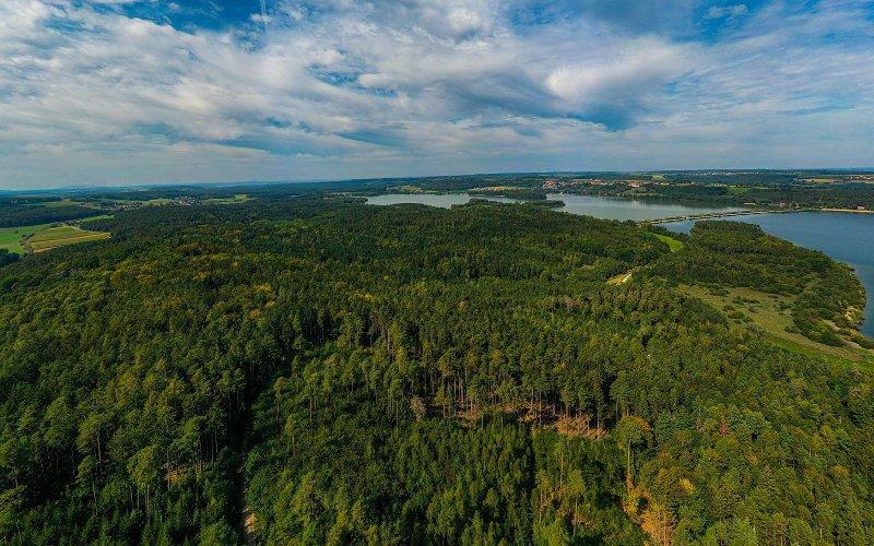 Drohnenaufnahme der bald zerstörten Muna Wald (Foto: Erwin Hussendoerfer)