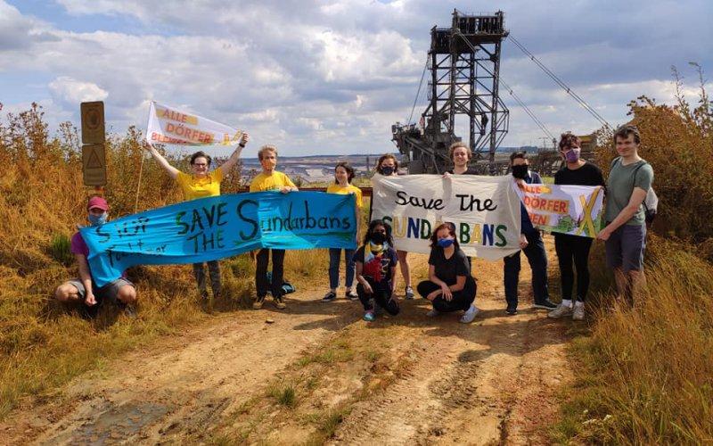Solidaritäts Aktion im Rheinischen Braunkohlerevier