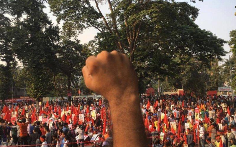 Protest gegen das geplante Kohlekraftwerk Rampal in Bangladesch