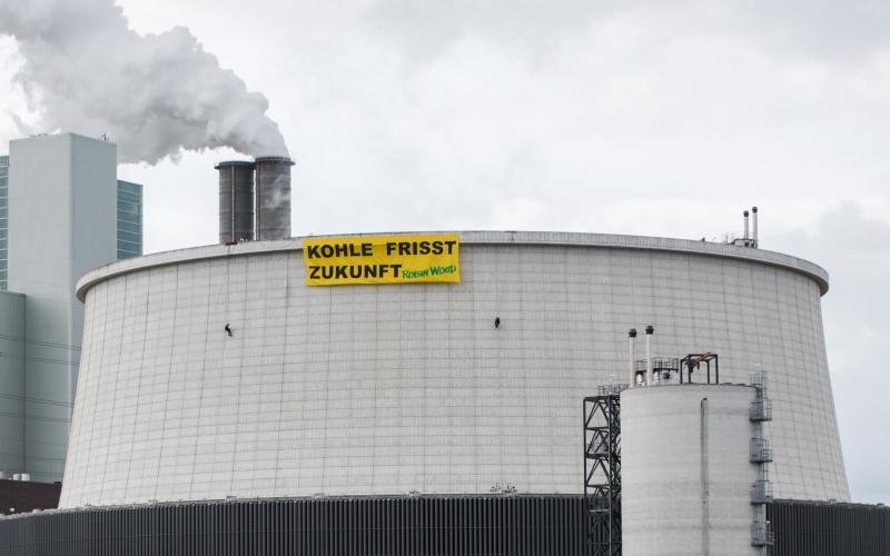 Aktionsfoto Kohlekraftwerk Moorburg