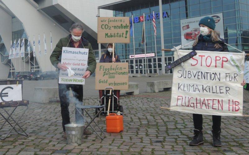 Aktionsfoto Flughafen Bremen 15.12.2020