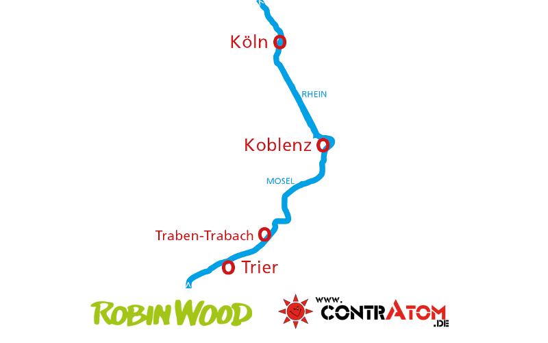 Karte Floßtour 2017