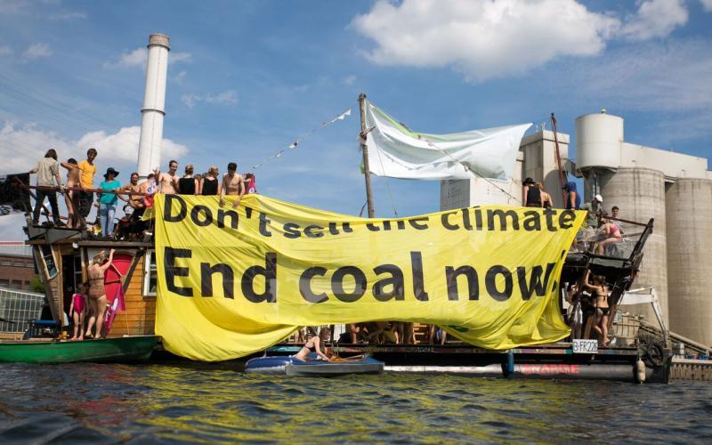 """""""Coal & Boat""""-Demonstration in Berlin (Juli 2016)"""