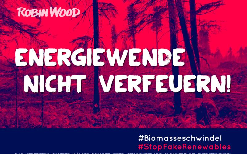 Aufkleber Biomasse rot