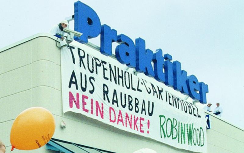"""Protest bei der Baumarktkette """"Praktiker"""""""